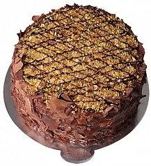 4 ile 6 kişilik Çikolatalı Krokanlı yaş pasta