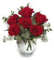 Vazo içerisinde 5 adet kırmızı gül  Ankara çiçekçi mağazası