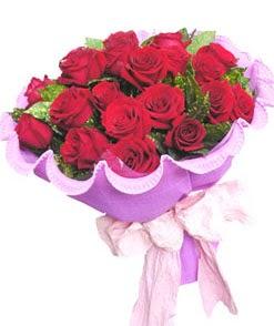 12 adet kırmızı gülden görsel buket  Ankara çiçekçi mağazası