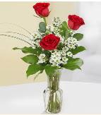 Vazo içerisinde 3 adet kırmızı gül  Ankara çiçek satışı