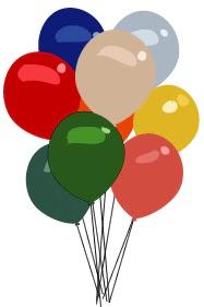 15 adet karışık renkli uçan balon siparişi