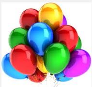 30 adet karışık renkte uçan balon buketi
