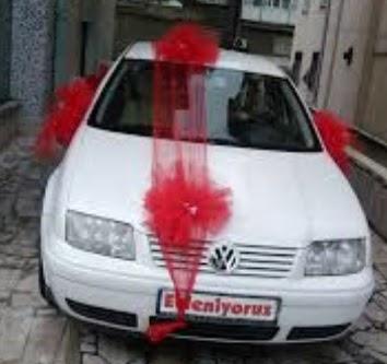 Ankara ucuz çiçek gönder  çiçeksiz gelin arabası süslemesi