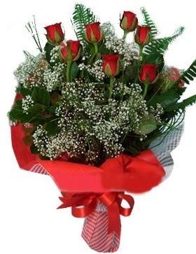 7 kırmızı gül buketi  Ankara çiçek servisi , çiçekçi adresleri