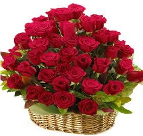 41 adet kırmızı gül sepet içerisinde  Ankara çiçek online çiçek siparişi
