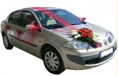 Çiçekli gelin arabası süsü  Ankara hediye çiçek yolla