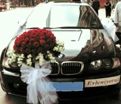 Görsel gelin arabası süslemesi  Ankara çiçek mağazası , çiçekçi adresleri