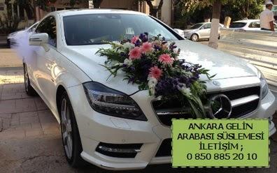 Ankara gelin araba süsü süslemesi  Ankara çiçek mağazası , çiçekçi adresleri