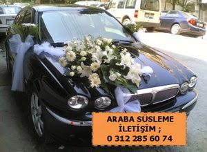 Gelin arabası süslemesi  Ankara güvenli kaliteli hızlı çiçek