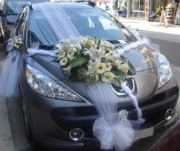Araba süsü süslemesi  Ankara çiçekçi telefonları
