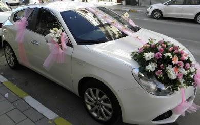 Düğün arabası süslemesi  Ankara 14 şubat sevgililer günü çiçek