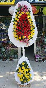 Düğün nikah açılış Çiçeği Çift katlı sepet  Ankara internetten çiçek satışı