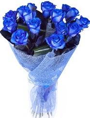 9 adet mavi gülden buket çiçeği  Ankara İnternetten çiçek siparişi
