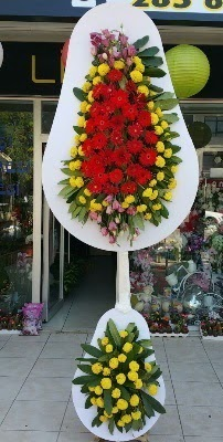 Çift katlı düğün çiçekleri  Ankara çiçek siparişi sitesi