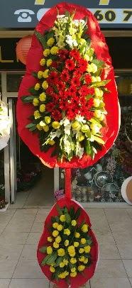 Çift katlı düğün açılış çiçek modeli  Ankara çiçek servisi , çiçekçi adresleri