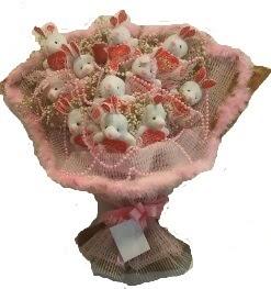 12 adet tavşan buketi  Ankara çiçek mağazası , çiçekçi adresleri