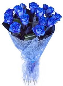 12 adet mavi gül buketi  Ankara çiçek servisi , çiçekçi adresleri