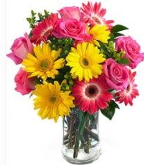 Vazoda Karışık mevsim çiçeği  Ankara çiçekçi mağazası