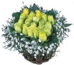 Ankara internetten çiçek satışı  Sari harika bir gül sepeti