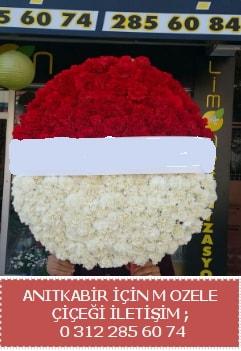Anıtkabir için mozele çiçeği çelengi  Ankara çiçekçi telefonları