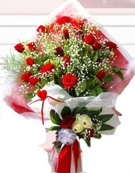 Kız isteme buketi çiçeği 41 güllü  Ankara hediye çiçek yolla