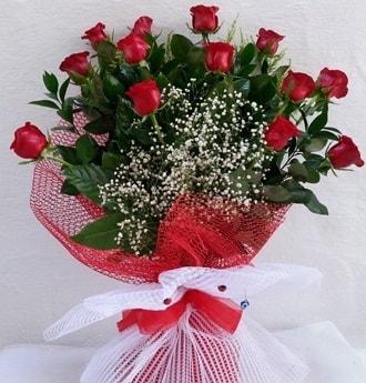 Kız isteme çiçeği buketi 13 adet kırmızı gül  Ankara hediye çiçek yolla