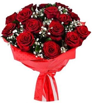 Kız isteme çiçeği buketi 17 adet kırmızı gül  Ankara çiçekçi telefonları