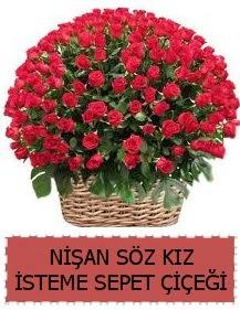 Kız isteme söz nişan çiçeği Sepeti 91 güllü  Ankara çiçek gönderme sitemiz güvenlidir