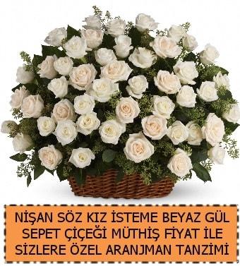 Söz nişan kız isteme çiçeği 33 beyaz gül  Ankara çiçek gönderme sitemiz güvenlidir