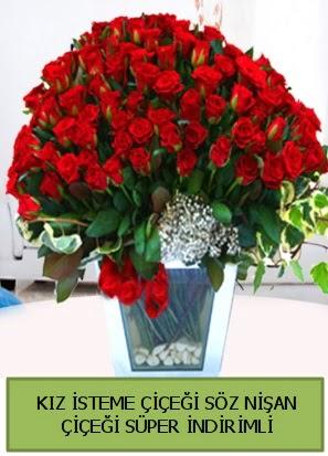Söz nişan kız isteme çiçeği 71 gülden  Ankara hediye çiçek yolla