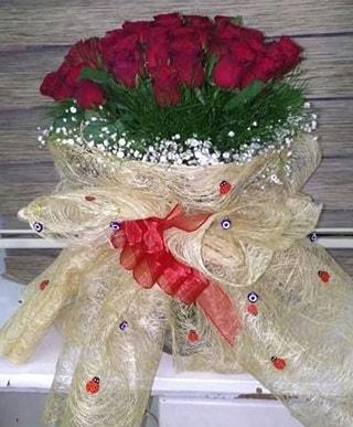 41 adet kırmızı gülden kız isteme buketi  Ankara internetten çiçek satışı