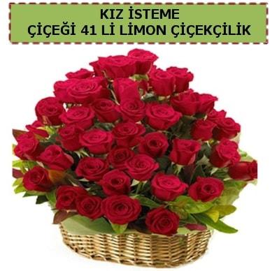 41 Adet gül kız isteme çiçeği modeli  Ankara çiçekçi telefonları