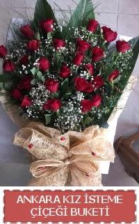 Kız isteme çiçeği kız isteme buket modeli  Ankara internetten çiçek siparişi