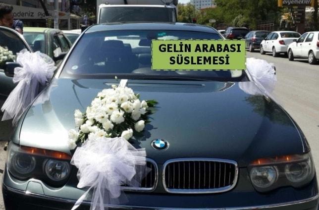 Gelin Arabası süslemesi Düğün arabası  Ankara çiçek yolla