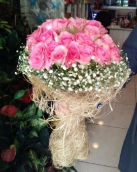 33 adet pembe gül nişan kız isteme buketi  Ankara çiçek gönderme sitemiz güvenlidir