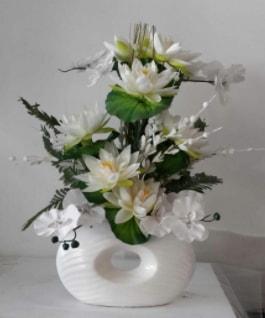 Porselen yapay çiçek tanzimi  Ankara çiçek yolla