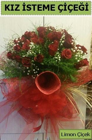 41 adet kırmızı gülden kız isteme buketi  Ankara çiçek satışı