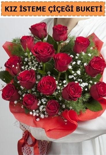 Kız isteme buketi çiçeği 17 gül  Ankara çiçekçi telefonları