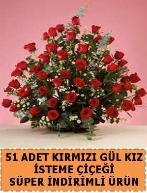 51 Adet kırmızı gülden kız isteme çiçeği  Ankara internetten çiçek satışı
