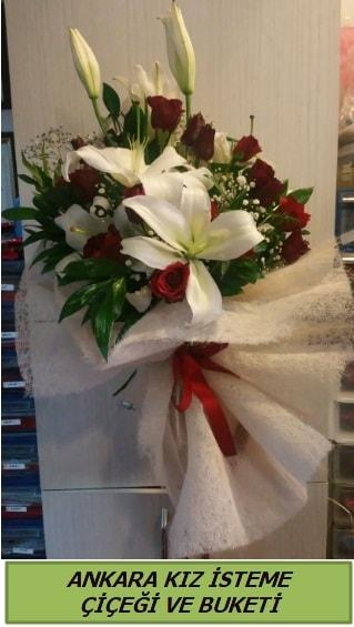 Kız isteme buketi çiçeği modelleri  Ankara çiçek yolla