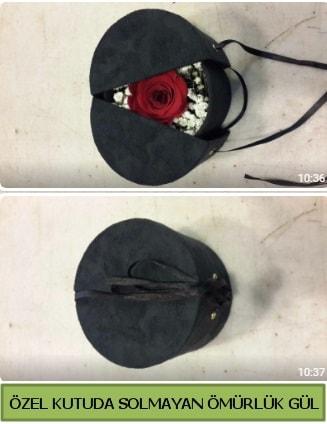 Solmayan ömürlük gül şoklanmış gül  Ankara çiçek gönderme