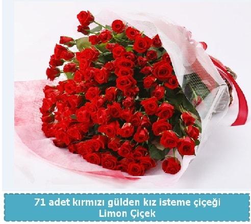 41 adet kırmızı gül kız isteme buketi  Ankara çiçekçi telefonları