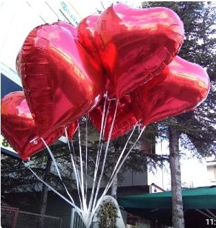 8 adet folyo kalp uçan balon  Ankara ucuz çiçek gönder