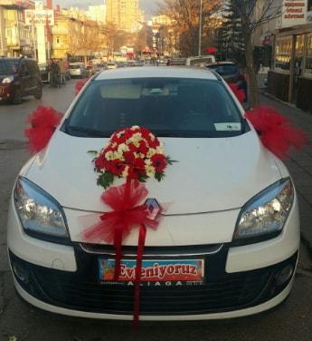 Araba süslemesi gelin arabası  Ankara çiçek , çiçekçi , çiçekçilik