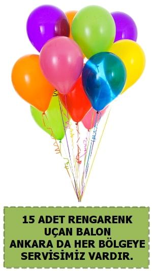 15 adet uçan balon rengarenk  Ankara çiçek satışı