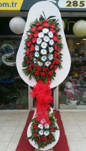 Yapay gerbera çiçeklerinden çift katlı çiçek  Ankara çiçekçi telefonları