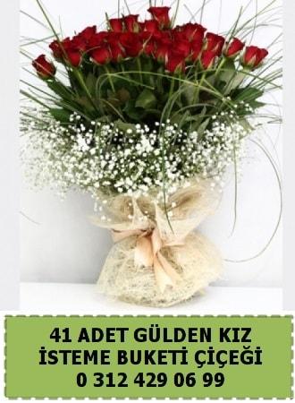 41 kırmızı gülden kız isteme çiçeği buketi  Ankara çiçek gönderme sitemiz güvenlidir w