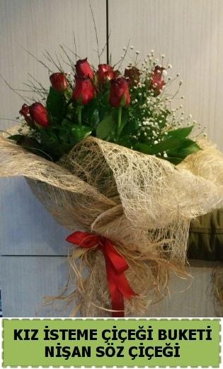 19 adet gülden kız isteme nişan çiçeği  Ankara internetten çiçek satışı