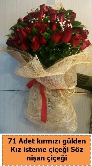 71 adet kırmızı gül söz nişan çiçeği  Ankara çiçek satışı