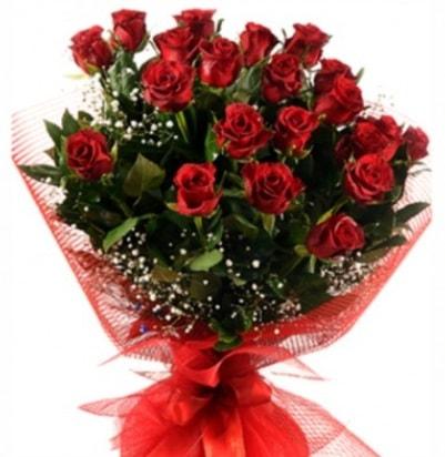 Kız isteme buketi çiçeği sade 27 adet gül  Ankara çiçek gönderme sitemiz güvenlidir